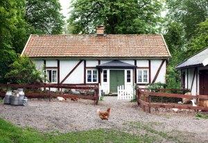 Der Holgersson Hof in Schonen, Heimat von Nils und seinen Eltern.